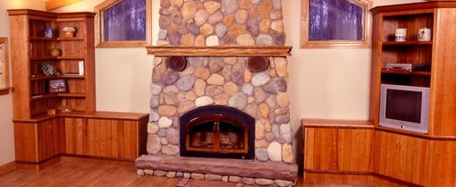 Custom Made Family Room Cabinetry And Mantle