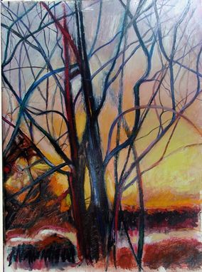 Custom Made Painting:  Winter Sunrise By Maggie Schmidt