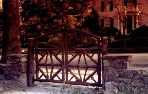 Custom Made Rustic Cedar Garden Gate