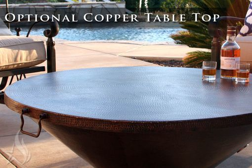 Custom Made 60 Inch Cono Moreno Hand Hammered Copper Fire Pit