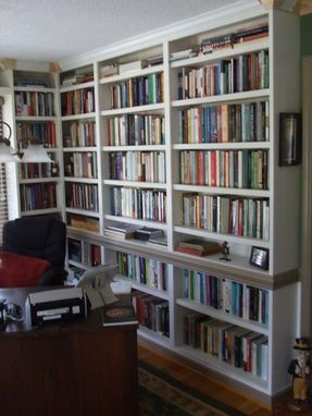 Custom Made Built-In Study Bookshelves