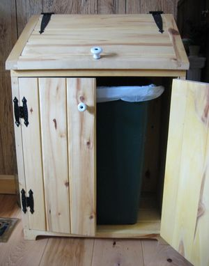 Custom Made Aspen Wood Trash Bin