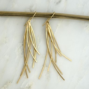 Custom Made Waves Of Grain Earrings