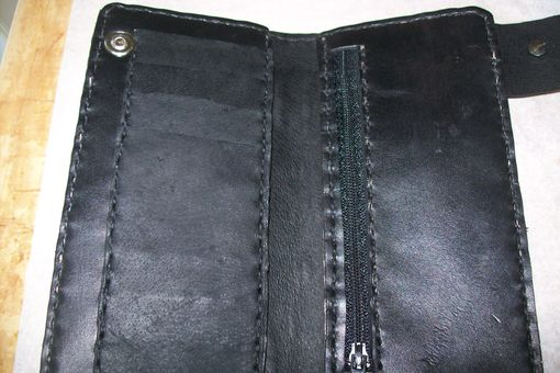 Custom Made Leather Biker Wallet
