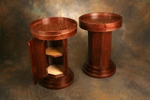 Custom Made Walnut Pedestals