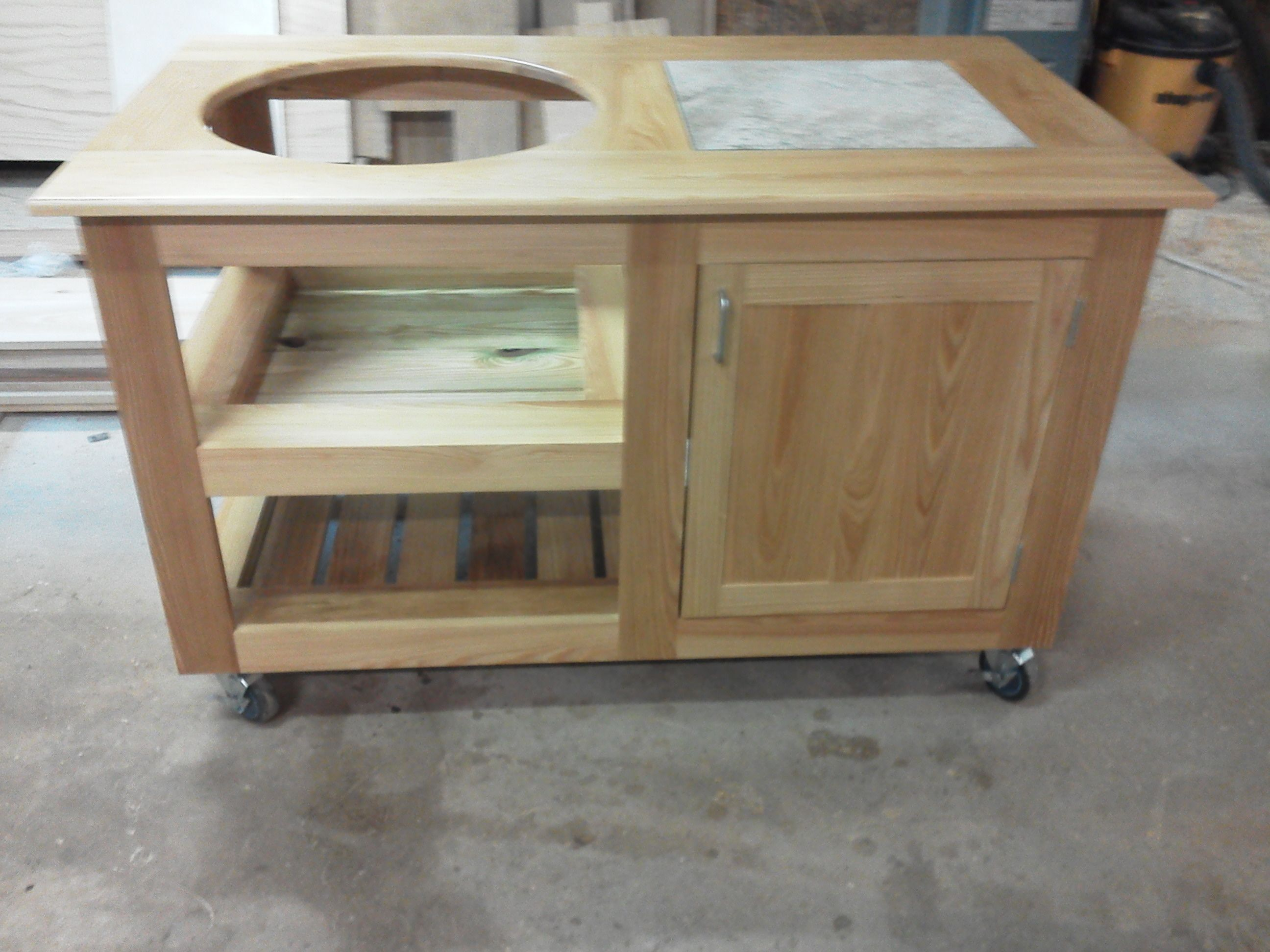 Hand Crafted Morgan Ashley Grill Table For Big Green Egg