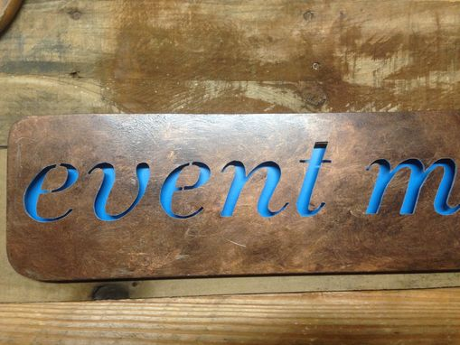 Custom Made Rustic Business Sign