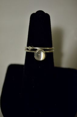 Custom Made Moonstone And Diamond Ring