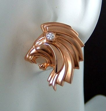 Custom Made Lion Earrings