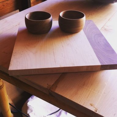 Custom Made Serving Board With Walnut Bowls