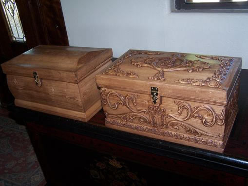 Custom Made Carved Wooden Boxes For Jewelry, Weddings, Aniversarys And More.
