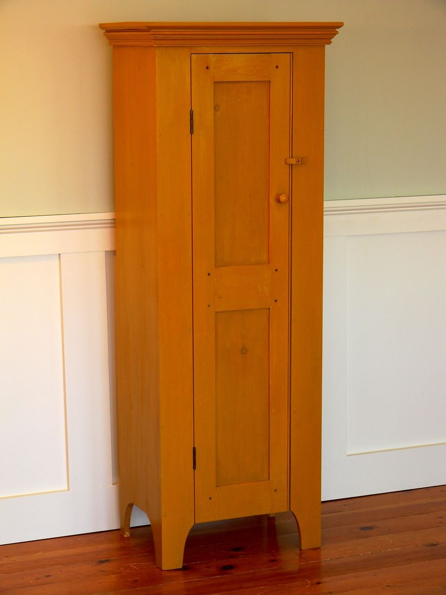 Narrow Linen Cabinet Hand Crafted Narrow Linen Press By T Kelly Furniture Custommadecom