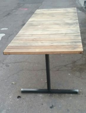 Custom Made Reclaimed Lumber And Steel Conference Table
