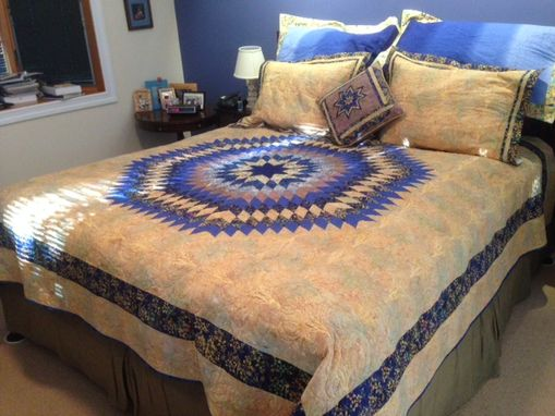 Custom Made King Sized Starburst With Pillow Shams