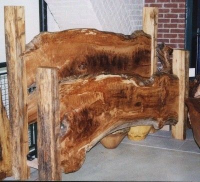 Custom Made Wood Slab Beds