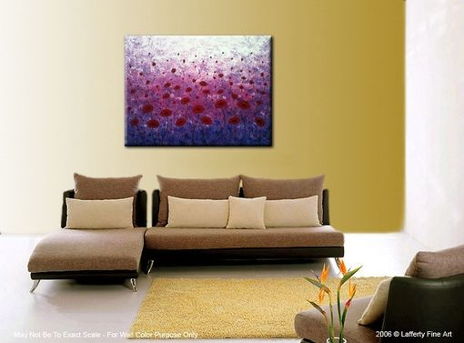 Custom Made Original Xlarge Poppies Painting Gallery Wrap Canvas-Contemporary Impasto Abstract Floral Garden