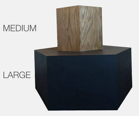 Custom Made Hexagon Wood Modern Geometric Table- Matte Grey