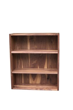 Custom Made Solid Walnut Bookcase With Moveable Shelves