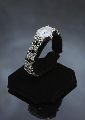 Custom Made Sterling Silverwatch Byzantine Weave