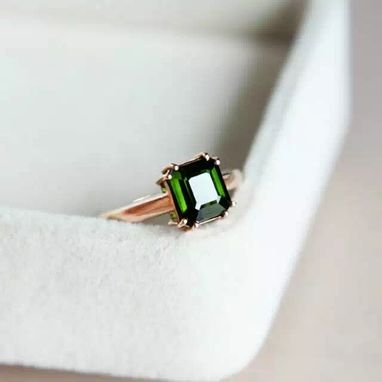 Custom Made 2.49 Carat Tourmaline Ring In 14k Rose Gold