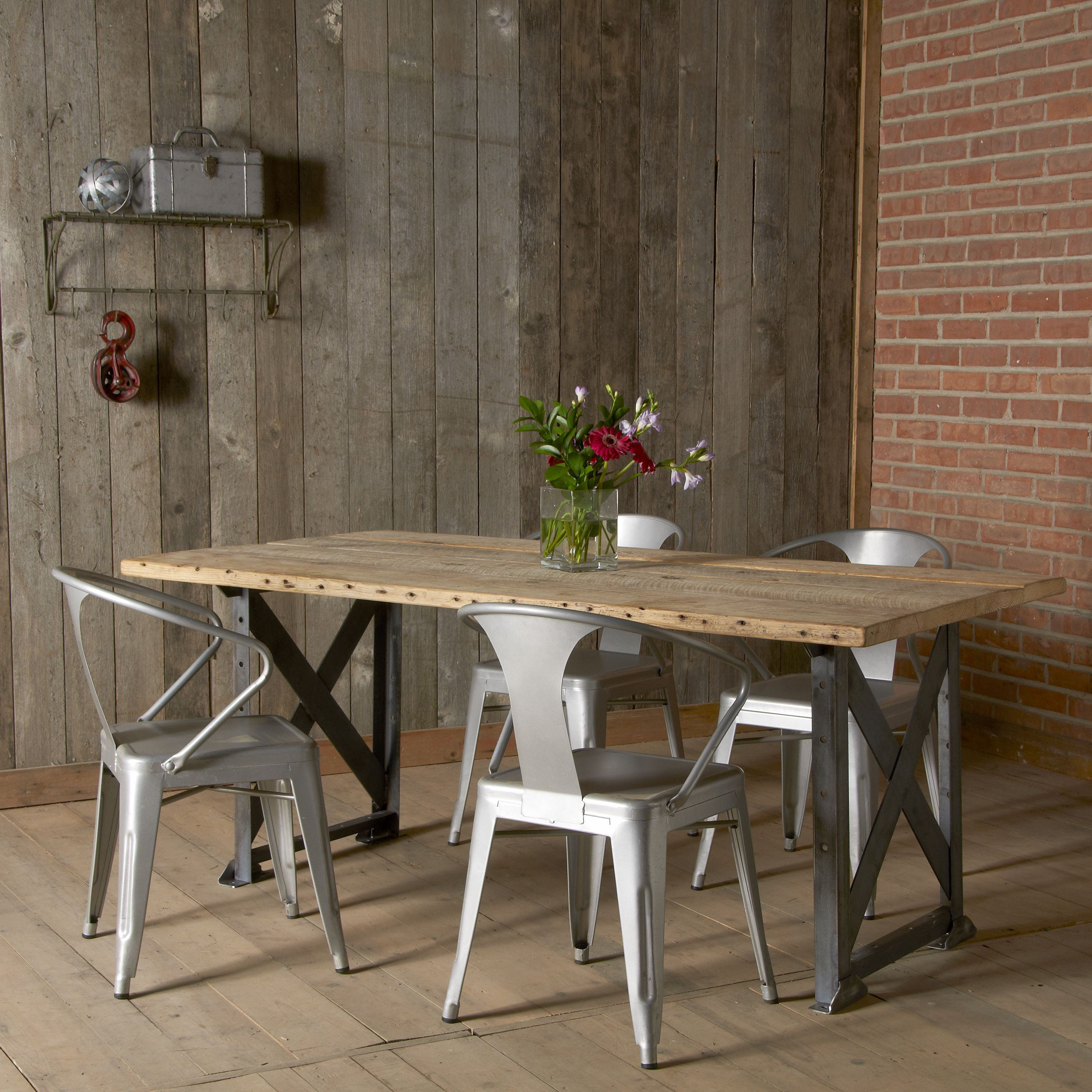 Buy a Handmade Industrial Factory Reclaimed Wood Dining Table