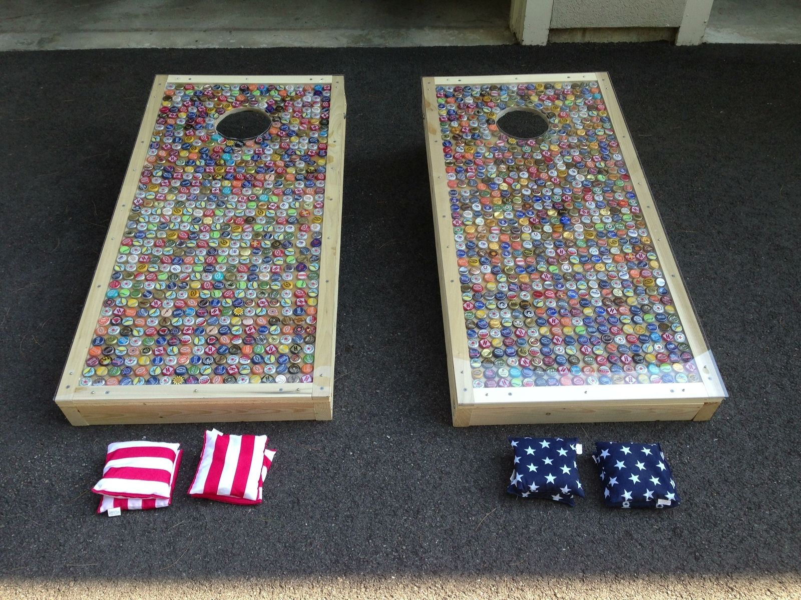 Hand Made Custom Corn Hole Baggo Set by Bar Nun Builders
