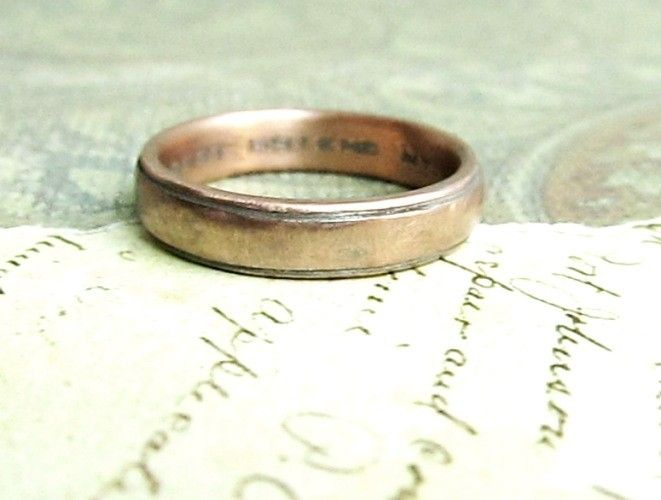 custom made rustic mens wedding band in rose gold by james christian metalsmith custommadecom - Rustic Wedding Rings