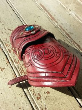 Custom Made Circular Gallifreyan-Esque Leather Vanbrace