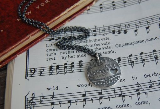 Custom Made Custom Sheet Music Jewelry