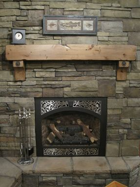 Custom Made Fireplace Beam Mantel Rustic Distressed Antique Bolts Salvaged Timber Post Style