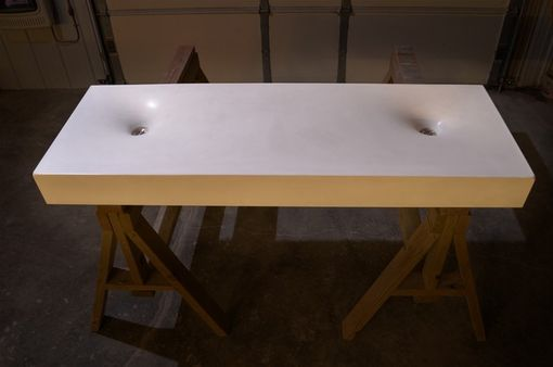 Custom Made Twin Crater Sink (Concrete)