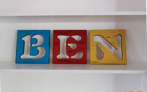 Custom Made Painted Wooden Letters