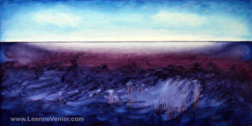Custom Abstract Art Indigo Blue Amp Violet Calming