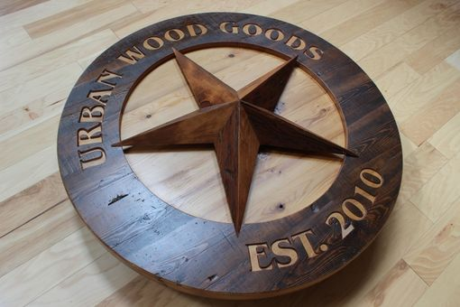 Custom Made Custom Carved Wood Signs | Barn Star | Reclaimed Wood Signs | Business Signs | Home Signs