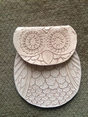 Custom Made Custom Leather Tooled Owl Cell Phone Purse
