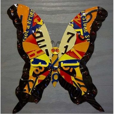 Custom Made License Plate Butterfly
