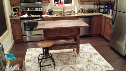 Custom Made Farmhouse Kitchen Island