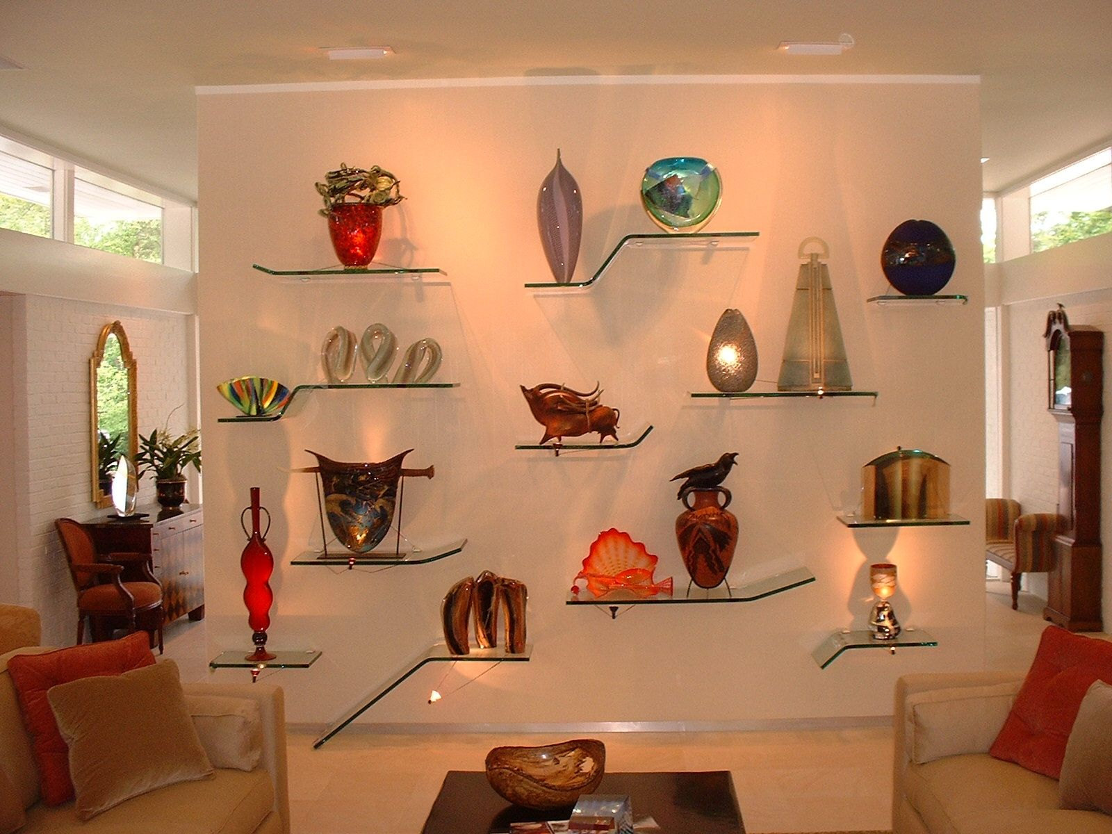 Hand Made Art Glass Display By Marc Konys Glass Design