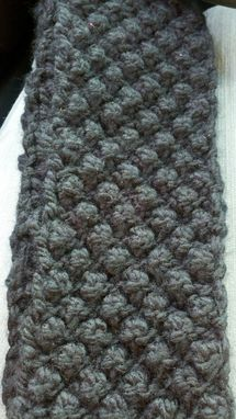 "Custom Made Black ""Raspberry"" Winter Scarf"