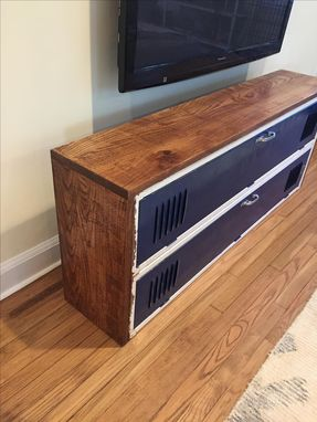 Custom industrial locker tv stand by m karl llc - Made com meuble tv ...