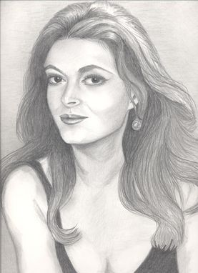 "Custom Made ""My Beautiful Mother"" Graphite Pencil Portrait"