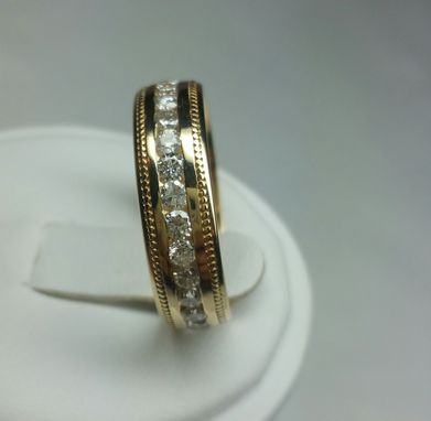 Custom Made Custom Made Men's Eternity Wedding Bamd With Diamonds