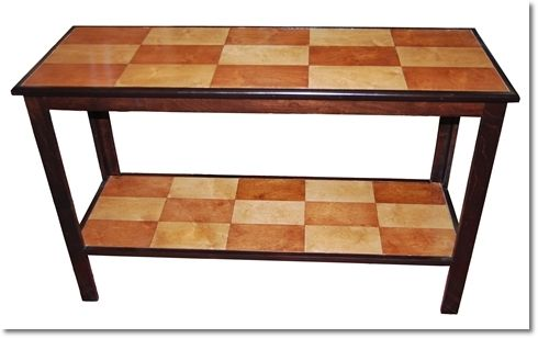 Custom Made Checkerboard Euro Table