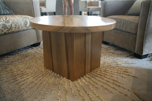 Custom Made Round Hardwood Coffee Table