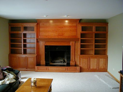 Custom Made Cherry Fireplace