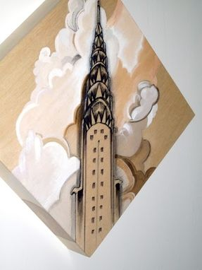 Custom Made New York City Architecture Sustainable Art Drawings On Birch Panel