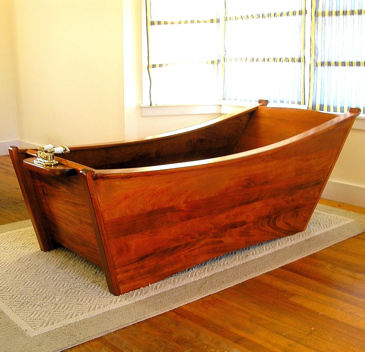 Hand Crafted Wooden Bathtub For One Person by Bath In Wood Of Maine ...
