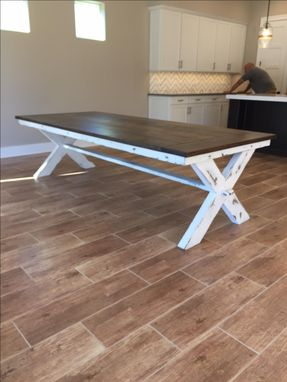 Custom Made Cross Leg Dining Table