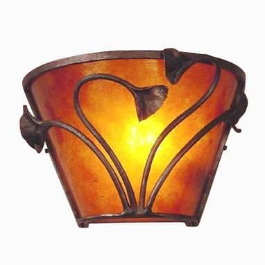Custom Made Mica Electric Sconce