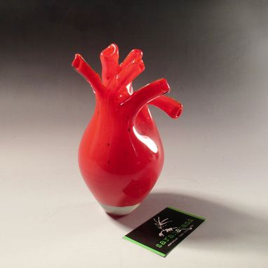 Custom Made Blown Glass Anatomical Hearts